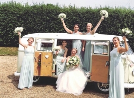 1960s Campervan for wedding hire in Brentwood